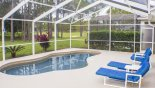 Spacious rental Highlands Reserve Villa in Orlando complete with stunning Extended pool deck with west facing pool get sun all day