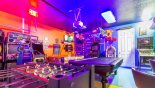 Spacious rental Solterra Resort Villa in Orlando complete with stunning Now isn't this the best games room ever ?