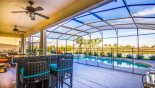 Spacious rental Solterra Resort Villa in Orlando complete with stunning Pool deck faces south east with spectacular lake views