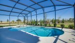 East facing pool & spa with open views - www.iwantavilla.com is the best in Orlando vacation Villa rentals