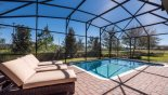 South east facing pool deck with open views with this Orlando Villa for rent direct from owner