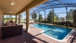 Orlando Villa for rent direct from owner, check out the View of pool from covered lanai