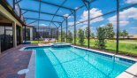 Spacious rental Champions Gate Villa in Orlando complete with stunning View of pool & spa with open views