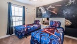 Twin bedroom #3 with Star Wars theming from Fiji 4 Villa for rent in Orlando
