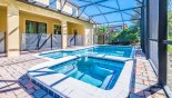 Orlando Villa for rent direct from owner, check out the View of pool & spa towards covered lanai