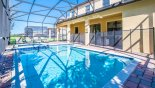 Pool deck with 4 sun loungers with this Orlando Villa for rent direct from owner
