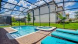 Spacious rental Champions Gate Villa in Orlando complete with stunning Sunny north east facing pool deck with 3 sun loungers