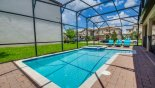 Orlando Villa for rent direct from owner, check out the View of 26' x 14' pool & spa