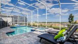 Pool & spa with east facing open views with this Orlando Villa for rent direct from owner