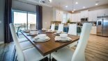 Villa rentals in Orlando, check out the View of dining area towards kitchen