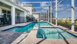 Villa rentals in Orlando, check out the View of pool & spa with pool safety fence erected