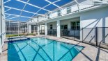 South facing pool & spa from Champions Gate rental Villa direct from owner