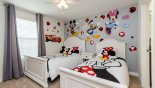 Fiji 5 Villa rental near Disney with Disney themed bedroom #3 with twin & full-size beds - access to Jack & Jill bathroom