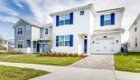 Spacious rental Champions Gate Villa in Orlando complete with stunning View of villa from street