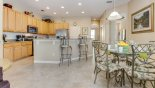 Villa rentals near Disney direct with owner, check out the View of kitchen and breakfast nook