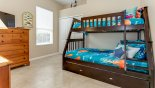 Wellesley 4 Villa rental near Disney with Bedroom #4 with bunk bed (twin over full-size)