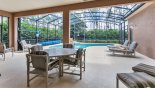 Wellesley 4 Villa rental near Disney with View of pool deck from covered lanai