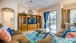 Family room with large LCD cable TV & DVD from Cambridge 9 Villa for rent in Orlando