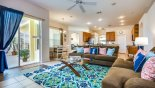 Family room with direct access to pool deck - www.iwantavilla.com is your first choice of Villa rentals in Orlando direct with owner