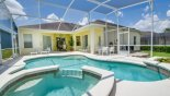 Pool deck with 4 sunloungers from Cambridge 9 Villa for rent in Orlando