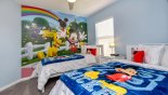 Villa rentals in Orlando, check out the Twin bedroom 6 with Mickey & Pluto theming