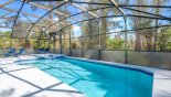 South east facing pool deck with conservation woodland views with this Orlando Villa for rent direct from owner