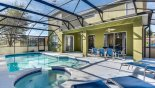 Palm Harbour 4 Villa rental near Disney with View of pool & spa towards covered lanai