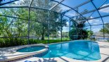 South west facing pool & spa from Magna Bay 10 Villa for rent in Orlando