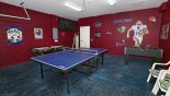 Villa rentals in Orlando, check out the Games room with table tennis, air hockey and table foosball
