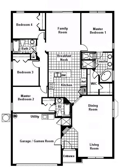 Cape San Blas 2 Floorplan