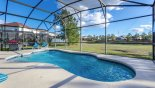 Spacious rental Windwood Bay Villa in Orlando complete with stunning South facing pool deck with gas BBQ