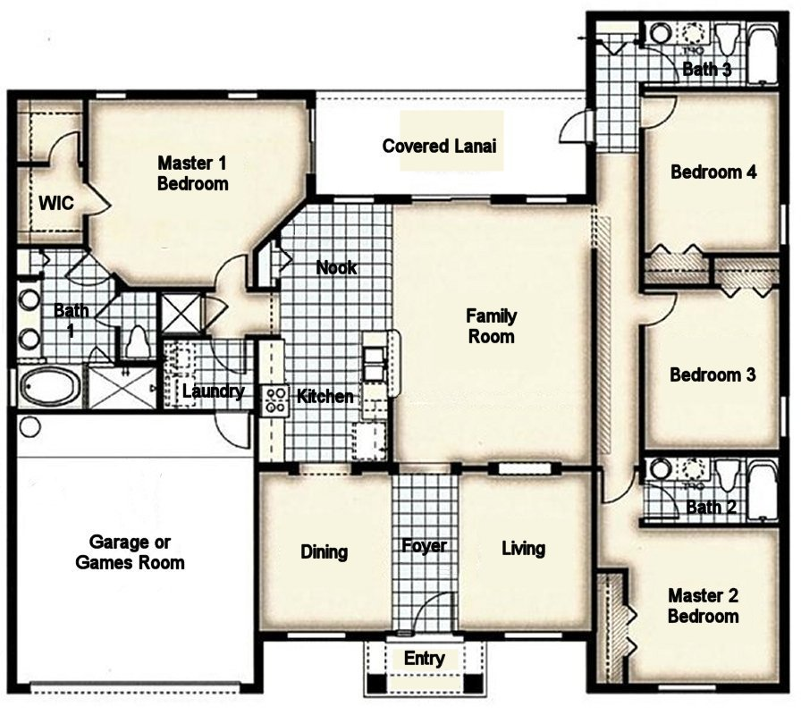 Cape Coral 1 Floorplan