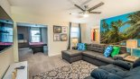 Villa rentals in Orlando, check out the Entertainment loft area viewed towards games room