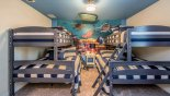 Bunk bedroom #7 with Finding Nemo theming from Maui 7 Villa for rent in Orlando
