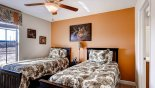 Bedroom #6 with twin beds & access to Jack & Jill bathroom from Fiji 2 Villa for rent in Orlando
