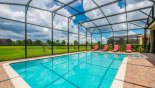 Pool deck with open views - no rear neighbours with this Orlando Villa for rent direct from owner