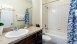 Family bathroom #2 with bath &shower over, sink & WC from Winchester 1 Villa for rent in Orlando