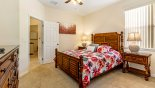 Orlando Villa for rent direct from owner, check out the Bedroom #4 with queen sized bed