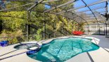 Villa rentals in Orlando, check out the Extended sunny SW facing deck with pool & spa and conservation views