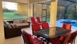 Orlando Villa for rent direct from owner, check out the Covered lanai with patio table, 6 chairs & gas BBQ