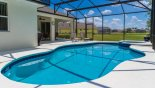 Spacious rental Ridgewood Lakes Villa in Orlando complete with stunning View from pool deck towards lake & golf course