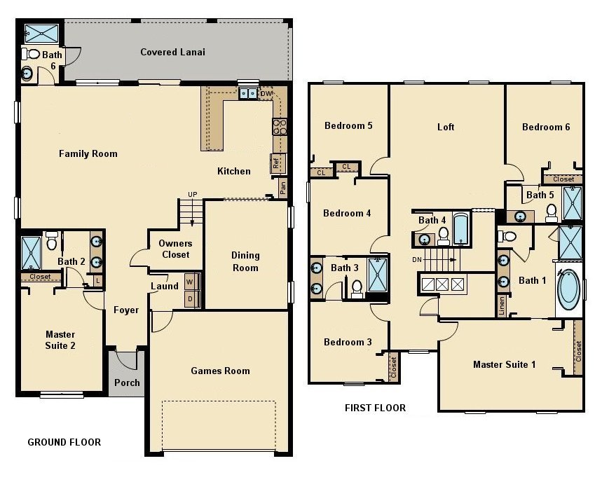 Fiji 6 Floorplan