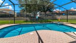 South west facing pool & spa gets sun all day from Seville 1 Villa for rent in Orlando