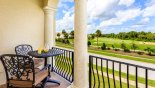 Balcony with views over golf course - www.iwantavilla.com is the best in Orlando vacation Villa rentals