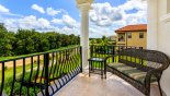 Villa rentals in Orlando, check out the Balcony with views over pool deck & conservation beyond