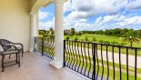 Spacious rental Reunion Resort Villa in Orlando complete with stunning Balcony off master 1 with views over 18th tee on Nicklaus golf course