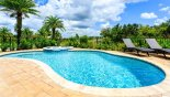 Large pool deck gets the sun all day - www.iwantavilla.com is your first choice of Villa rentals in Orlando direct with owner