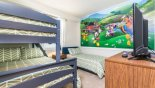 Condo rentals in Orlando, check out the Mickey Moused themed Bedroom 2 with LCD cable TV
