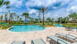 Swimming pool with plenty of comfortable sun loungers from Milan 2 Condo for rent in Orlando