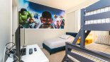 Lego themed Bedroom 2 with LCD cable TV - www.iwantavilla.com is the best in Orlando vacation Condo rentals